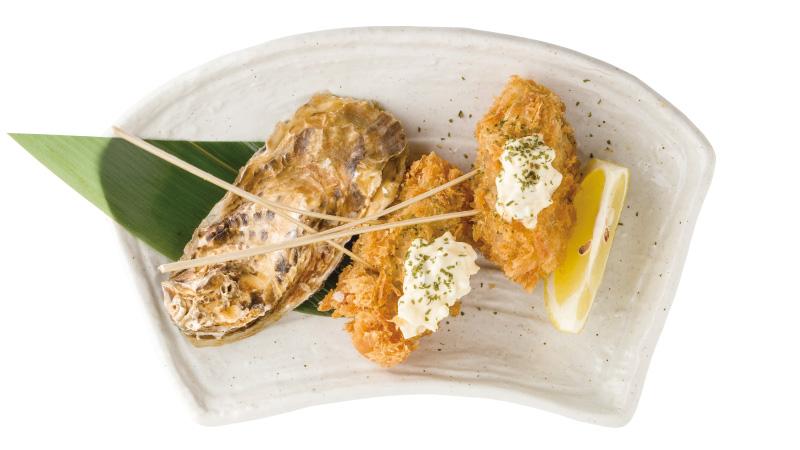 牡蠣の串揚げ~自家製タルタルソース添え~