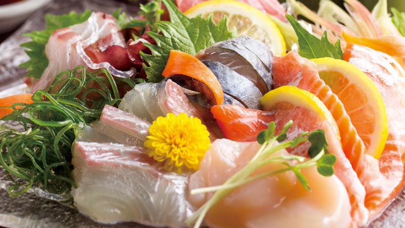 本日の鮮魚のお造り盛合せ