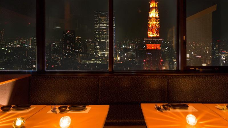 東京タワーを望む個室も…【~12名様用 個室】