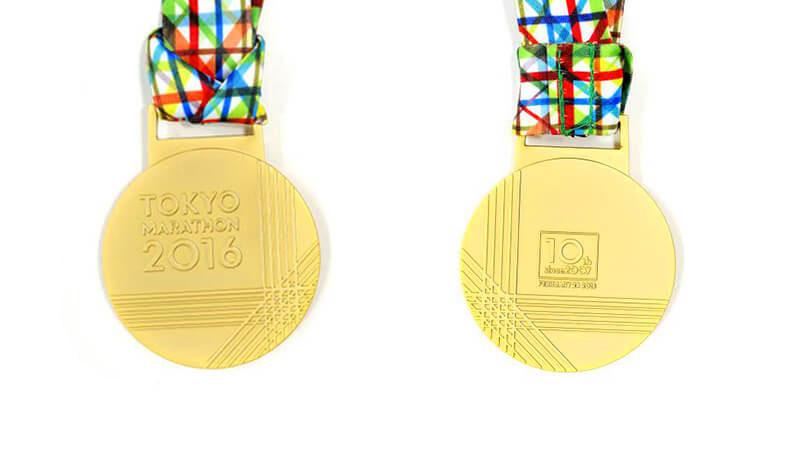 マラソン完走者、全員に授与される完走メダル!
