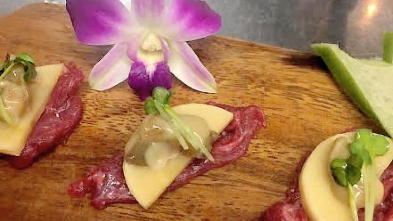桜  肉と筍と牡蠣の塩辛と