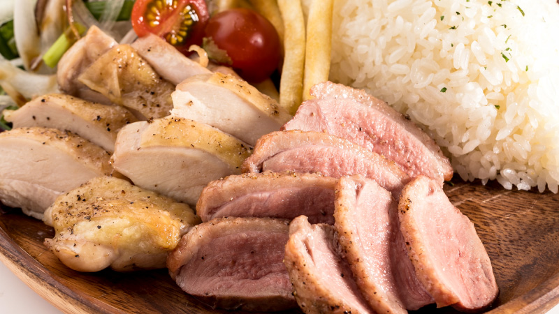 <ランチプレート>鴨と鶏の食べ比べプレート
