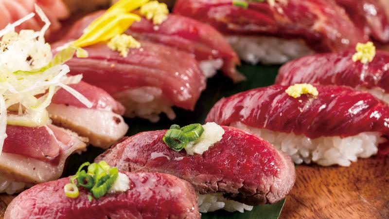<ランチプレート>ジビエの肉寿司プレート 5種10貫