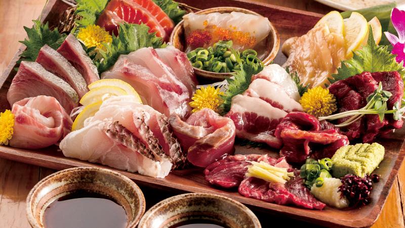本日の鮮魚のお造り盛り合わせ