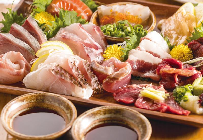 産直鮮魚を自家製・燻製醤油で…「燻製醤油×お刺身」
