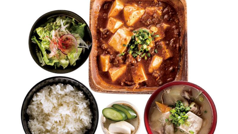 ピリッと濃厚!『ジビエの麻婆豆腐定食』