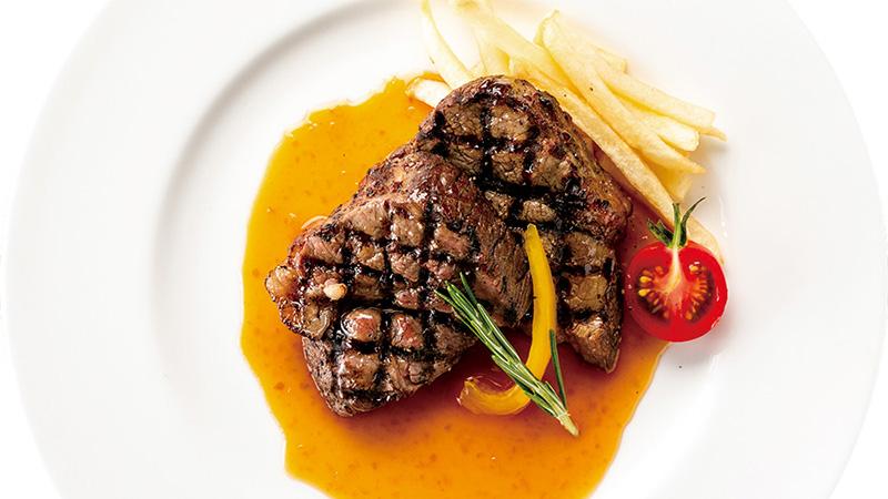 『牛ステーキ ~ホースラディッシュソース~』500円(税込)