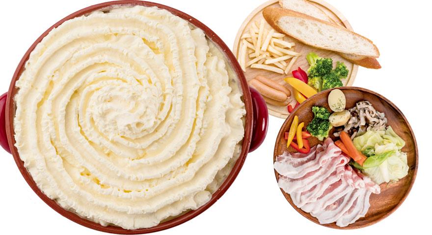 ふわふわチーズ鍋と豚しゃぶのセット