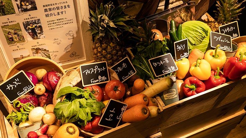 全国各地の農家の方が真心込めて作る「農園野菜」