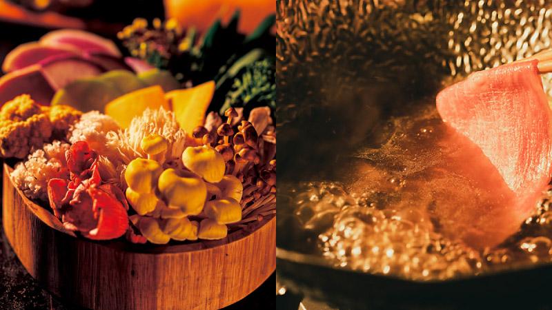 それぞれの風味と食感、味わいが堪能できるキノコ鍋