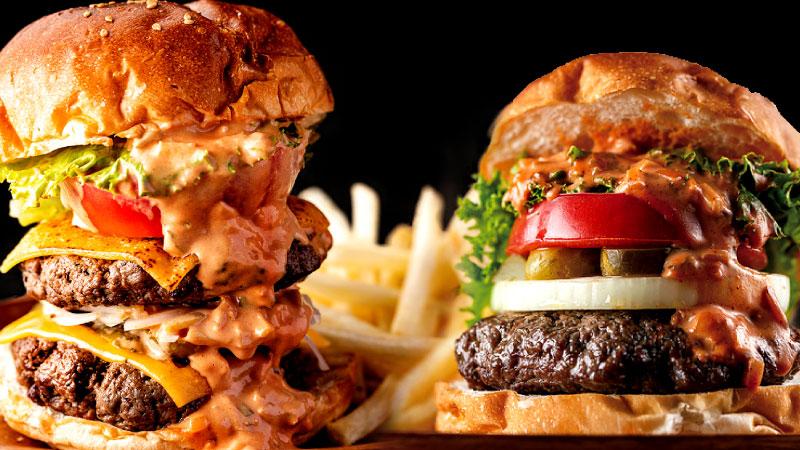 ジューシーなパテとドロドロソースの逸品!メインディッシュになるハンバーガー